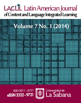Latin American Journal of Content and Language Integrated Learning, Vol. 7, Issue 1