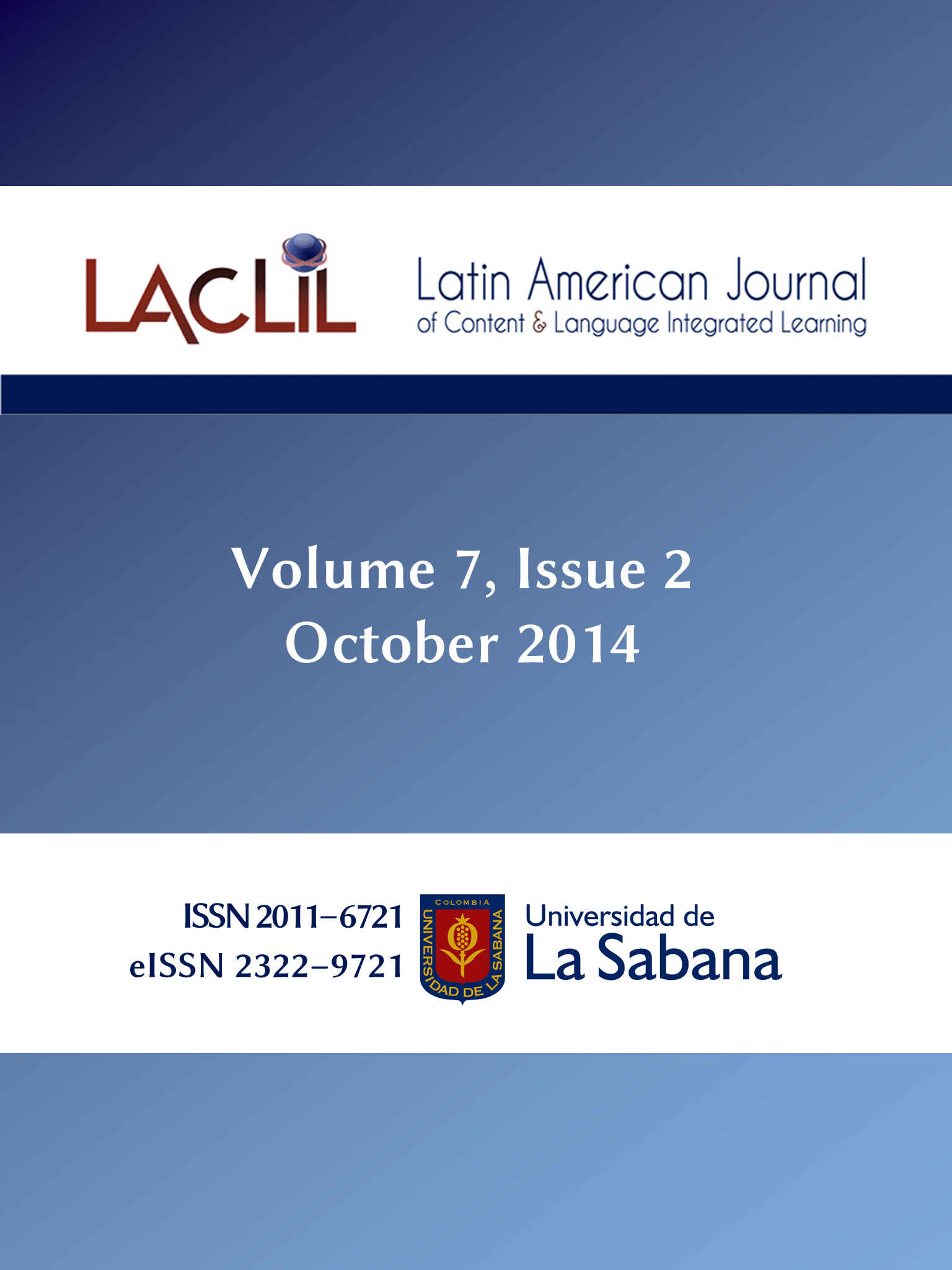 LACLIL Vol. 7, Issue 2 (October 2014)