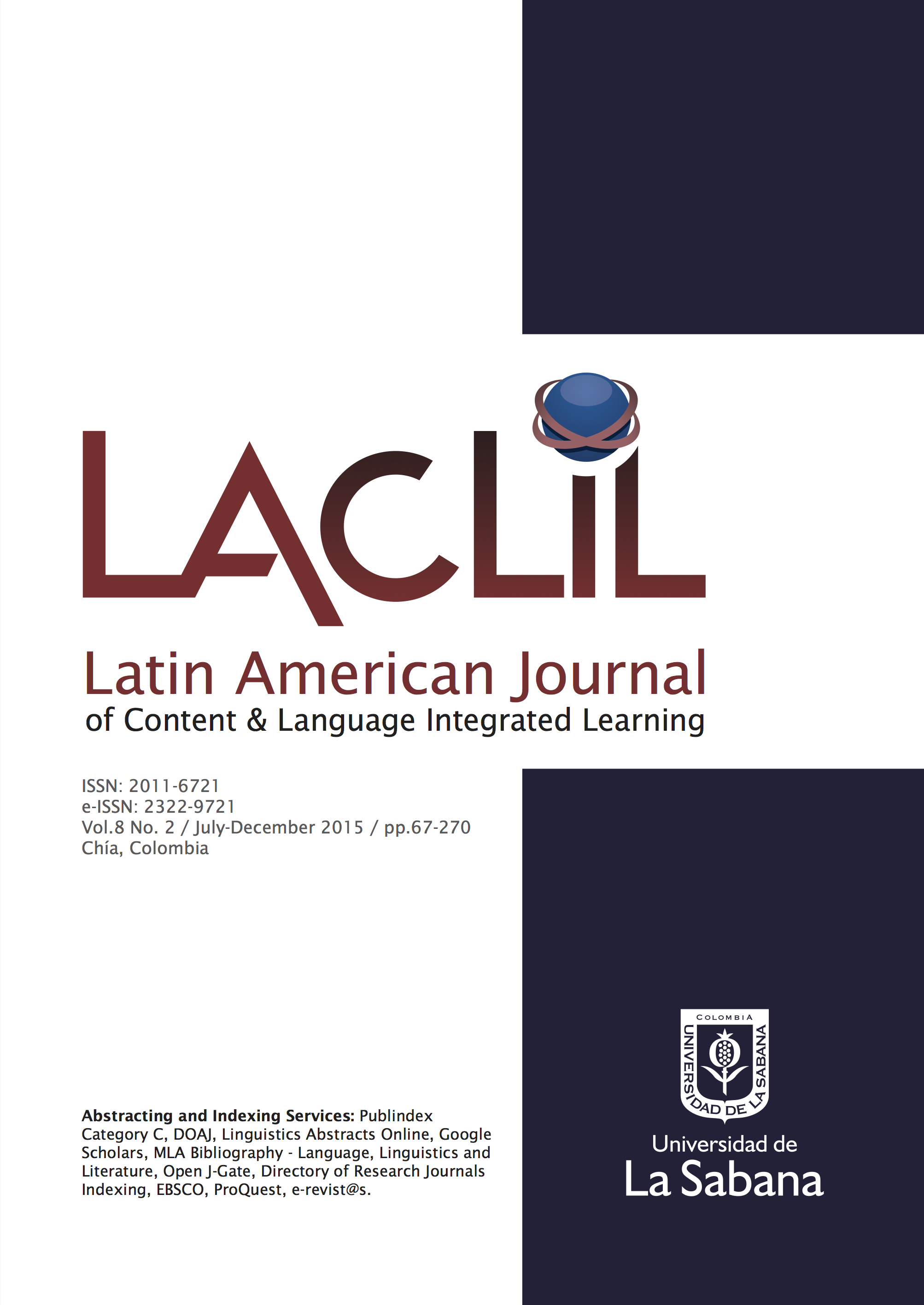 LACLIL Vol. 8 No. 2, July-December 2015